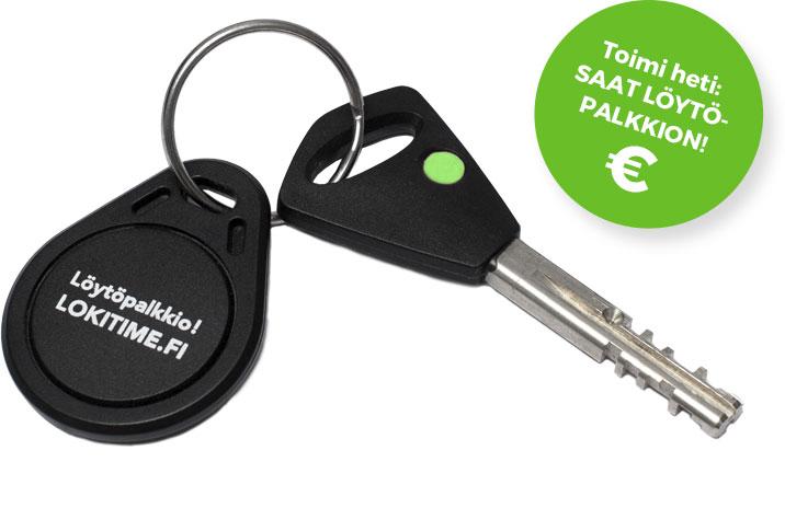 LokiTime turvapalvelun avulla avainten oikean omistajan löytää helposti.